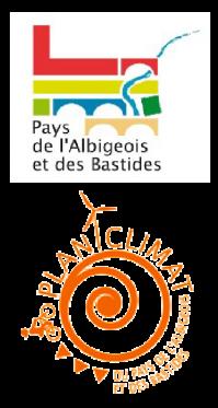 Logos du Pôle territorial de l'Albigeois et des Bastides et du Plan Climat
