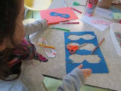 Activité périscolaire (NAP) création masques