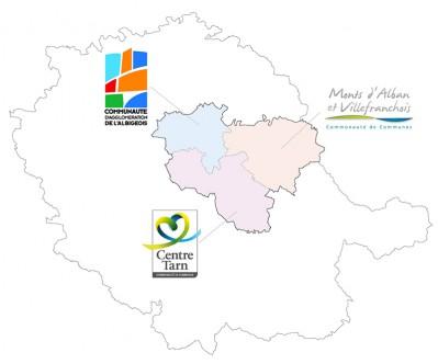 Carte des intercommunalité du SCoT du Grand Albigeois