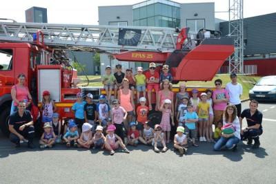 Visite à la caserne des pompiers dans le cadre des accueils de loisirs