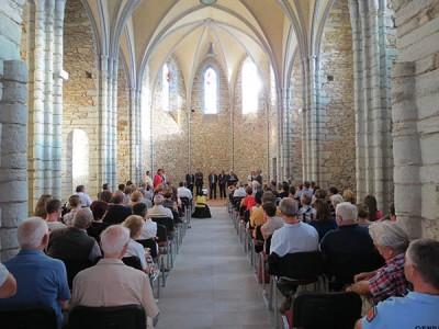La chapelle de Massals lors de l'inauguration © D. Delpoux