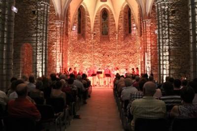 La chapelle lors du premier concert après la réouverture de l'espace intercommunal de Massals