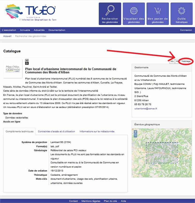 Télécharger un document d'urbanisme sur Tigéo²