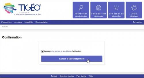 Confirmation de téléchargement du Document d'urbanisme sur Tigéo²