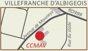 Plan d'accès à la micro crèche de Villefranche dAlbigeois