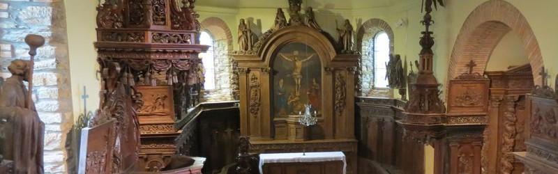 Visite de l'église de Lacalm et des boiseries de Laclau