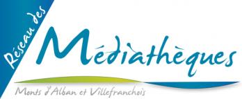 Logo réseau des médiathèques des Monts d'Alban et duVillefranchois
