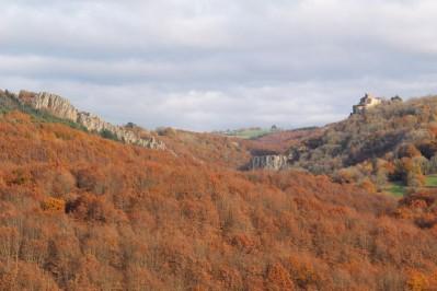 Gorges de l'Oulas et le château de Paulin à Paulinet