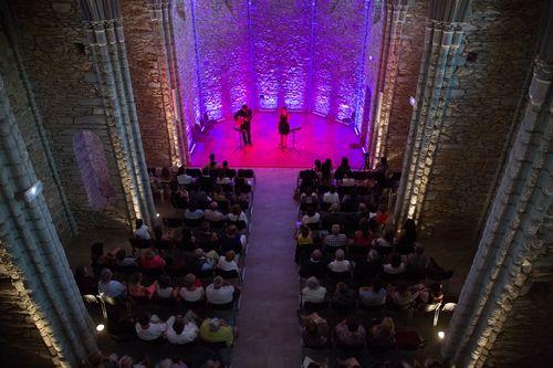 Concert lors de l'inauguration de la chapelle de Massals en 2015 - D.Delpoux