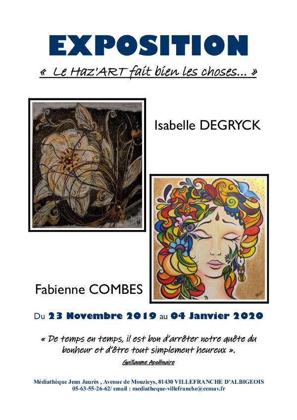 Exposition de Fabienne Combes et Isabelle Degryck à Villefranche d'Albigeois