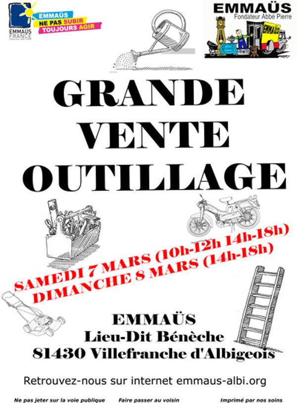 Vente d'outillage à Villefranche d'Albigeois