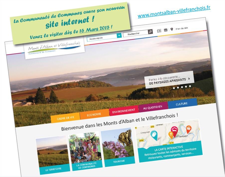Un nouveau site internet pour la Communauté de Communes !