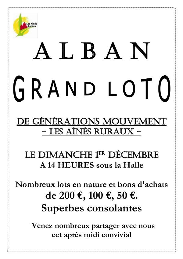 Loto de Génération Mouvement à Alban