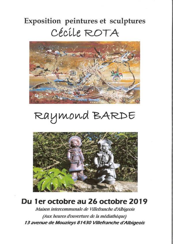 Exposition à la médiathèque Jean Jaurès à Villefranche d'Albigeois