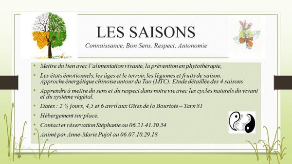 Stage sur l'étude des saisons à Villefranche d'Albigeois