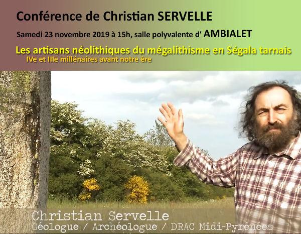 """Conférence sur """"les artisans néotilitiques du mégalithisme en ségala Tarnais à Ambialet"""