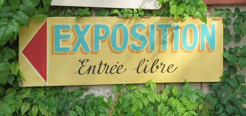 Exposition de Chris Verbeke à l'Eglise St Gilles à Ambialet