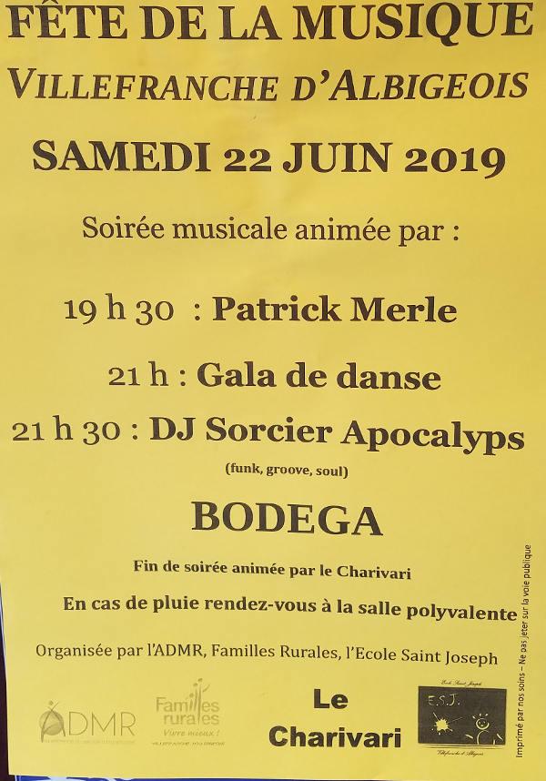 Fête de la musique à Villefranche d'Albigeois