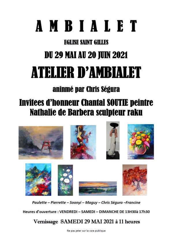 Exposition à l'Eglise St Gilles à Ambialet