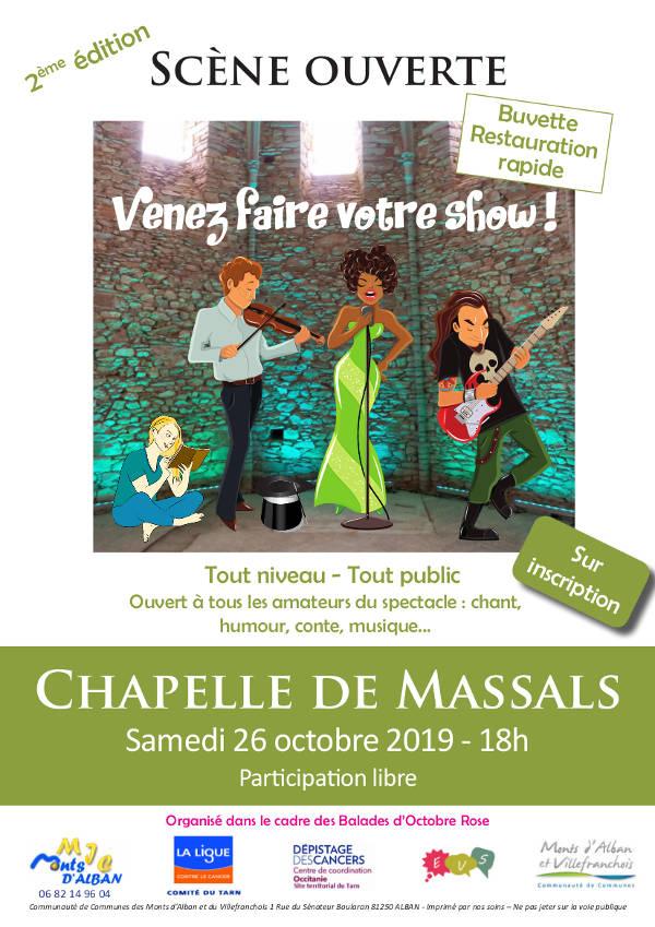 Scène ouverte pour les artistes locaux à la Chapelle de Massals