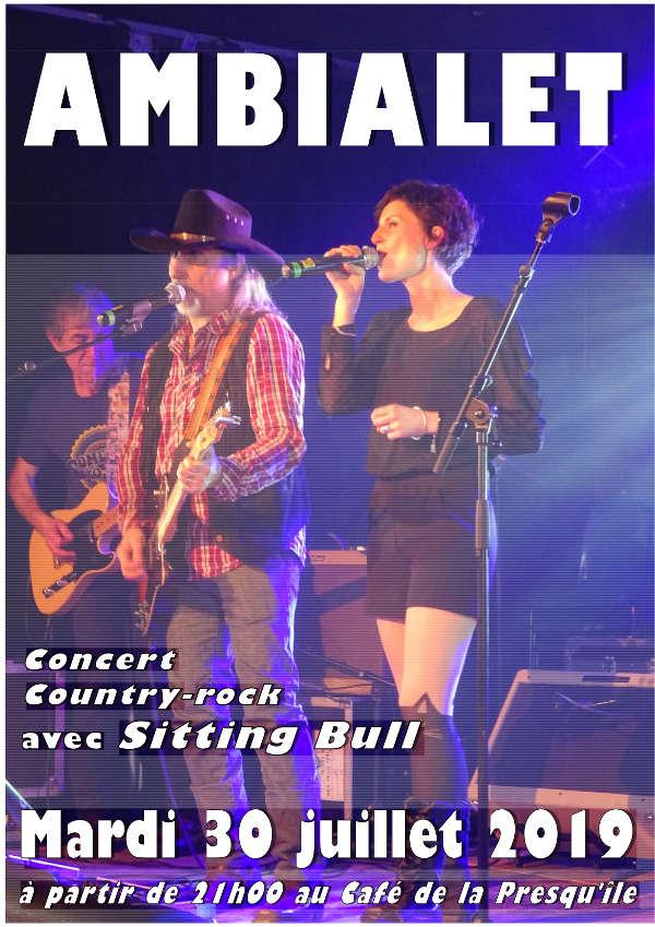 Concert avec Sitting Bull au Café de la Presqu'île à Ambialet
