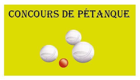 Concours de pétanque à Mouzieys-Teulet