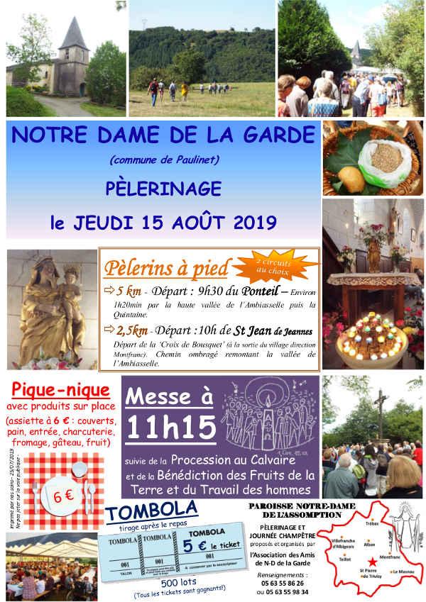 Journée Champêtre et Pèlerinage à Notre Dame de La Garde - Paulinet
