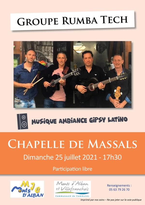 Concert à la Chapelle de Massals