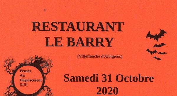 Repas Halloween à Villefranche d'Albigeois