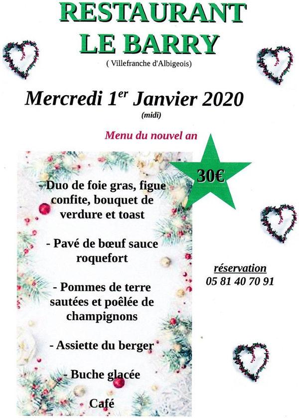 Repas du nouvel an à Villefranche d'Albigeois