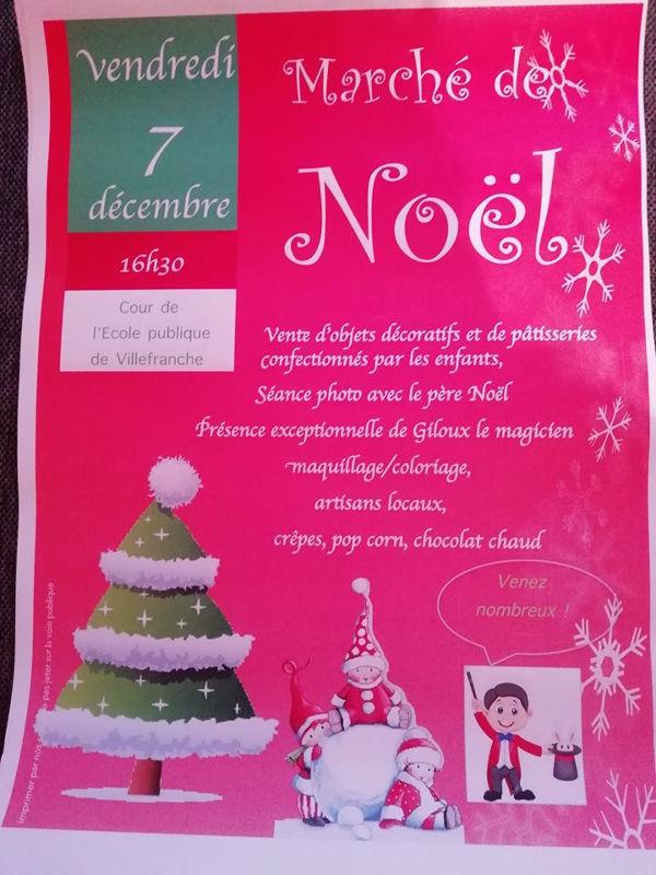 Marché de Noël à l'école publique de Villefranche d'Albigeois