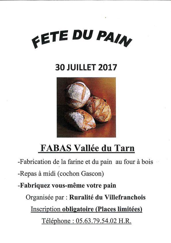 Fête du pain à Fabas