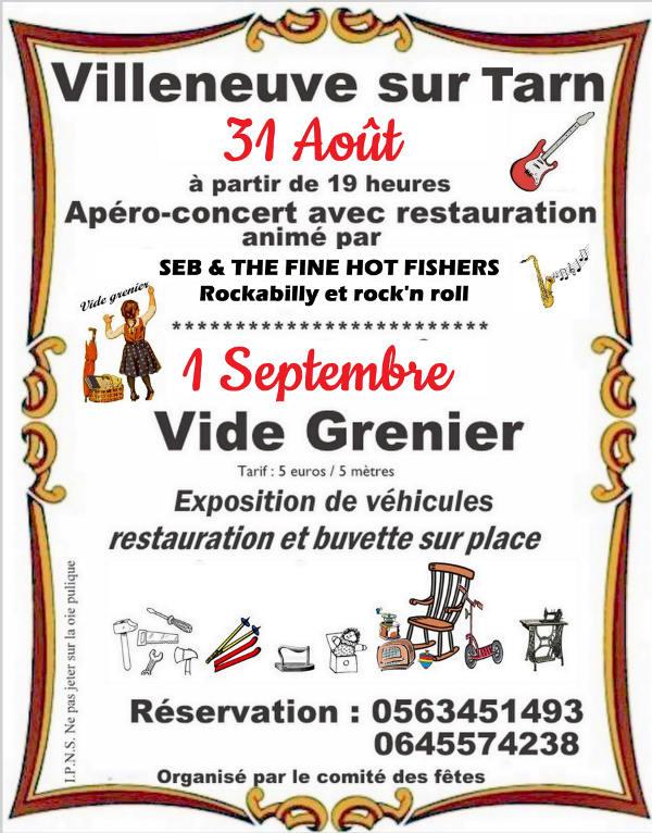 Apéro-concert à Villeneuve sur Tarn