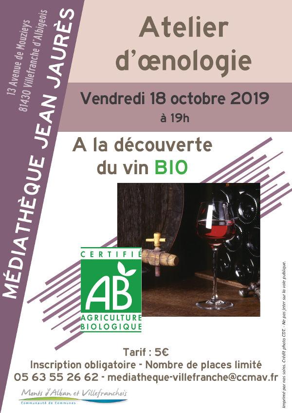 Atelier d'œnologie à Villefranche d'Albigeois