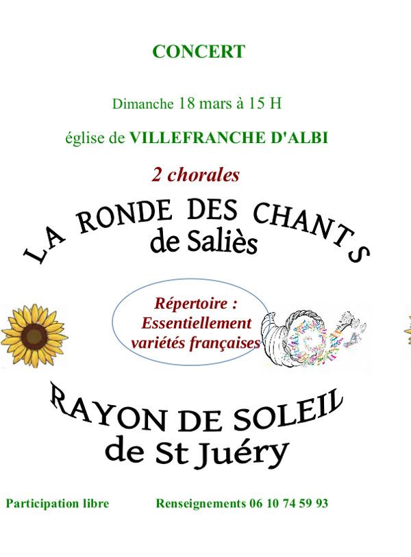 Concert de chorales à Villefranche d'Albigeois