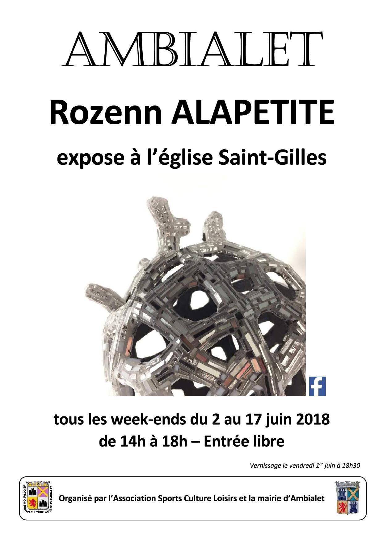 exposition 2 au 17 juin