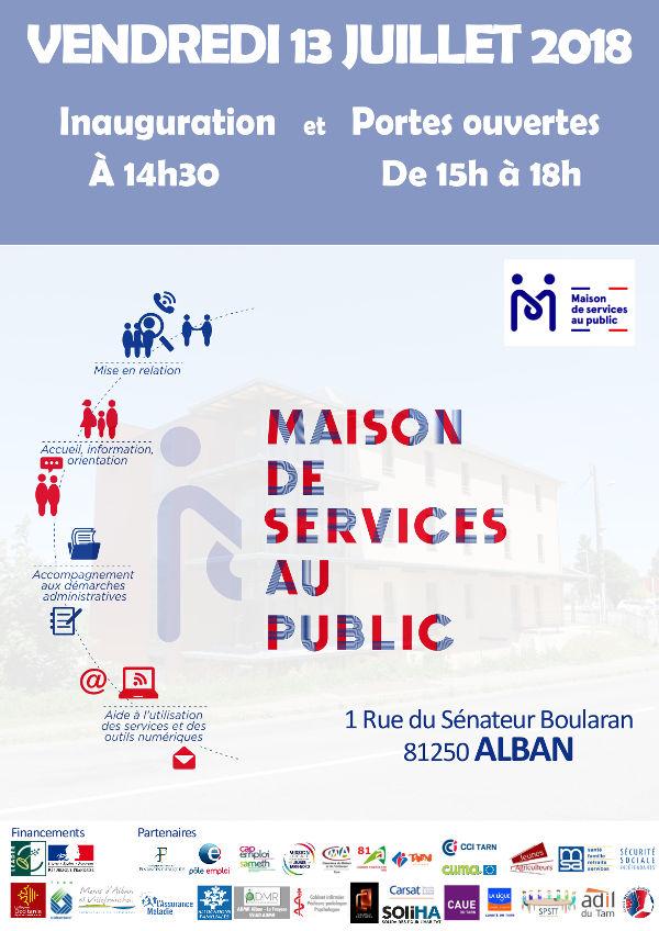 Inauguration de la Maison de Services au Public d'Alban