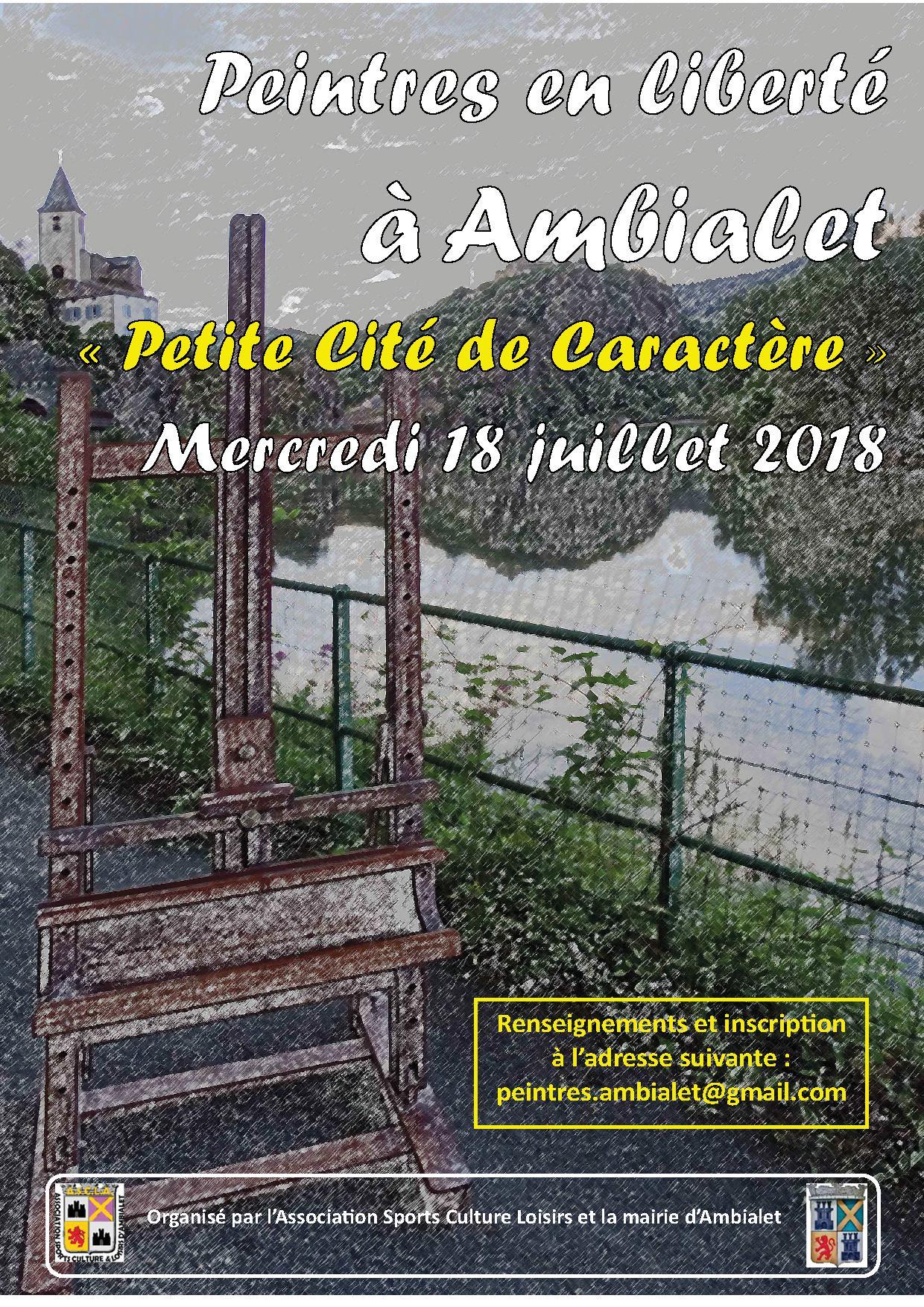 LES « PEINTRES EN LIBERTE » S'INVITENT A AMBIALET – PETITE CITE DE CARACTERE