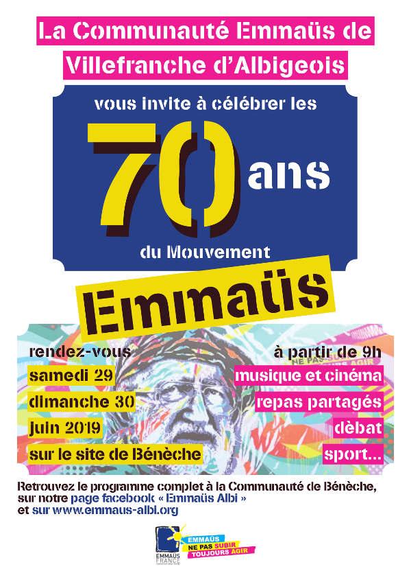 70° anniversaire du mouvement Emmaus à Villefranche d'Albigeois