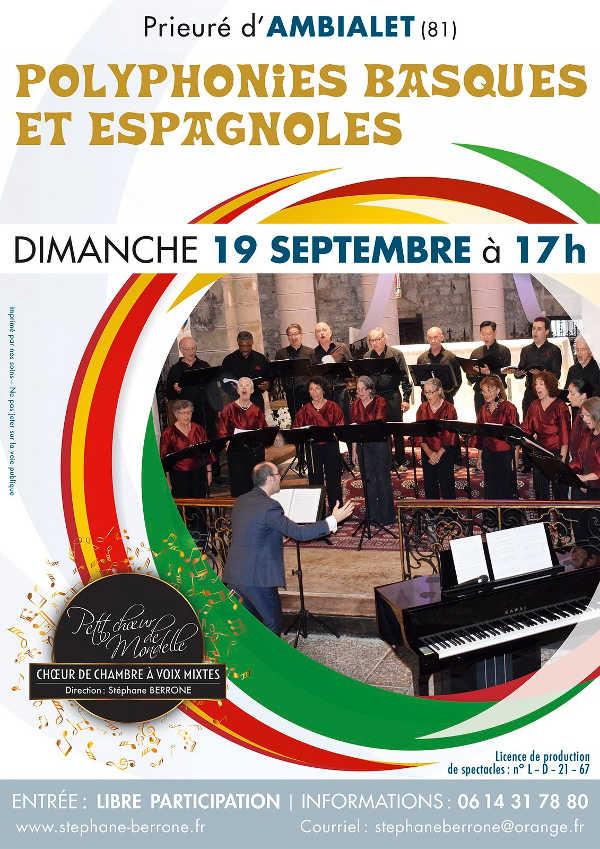 Polyphonies Basques et Espagnoles à Ambialet