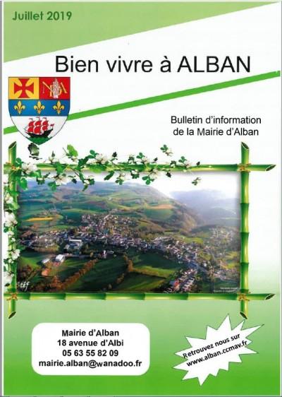 Bulletin d'information de la Mairie d'Alban Juillet 2019