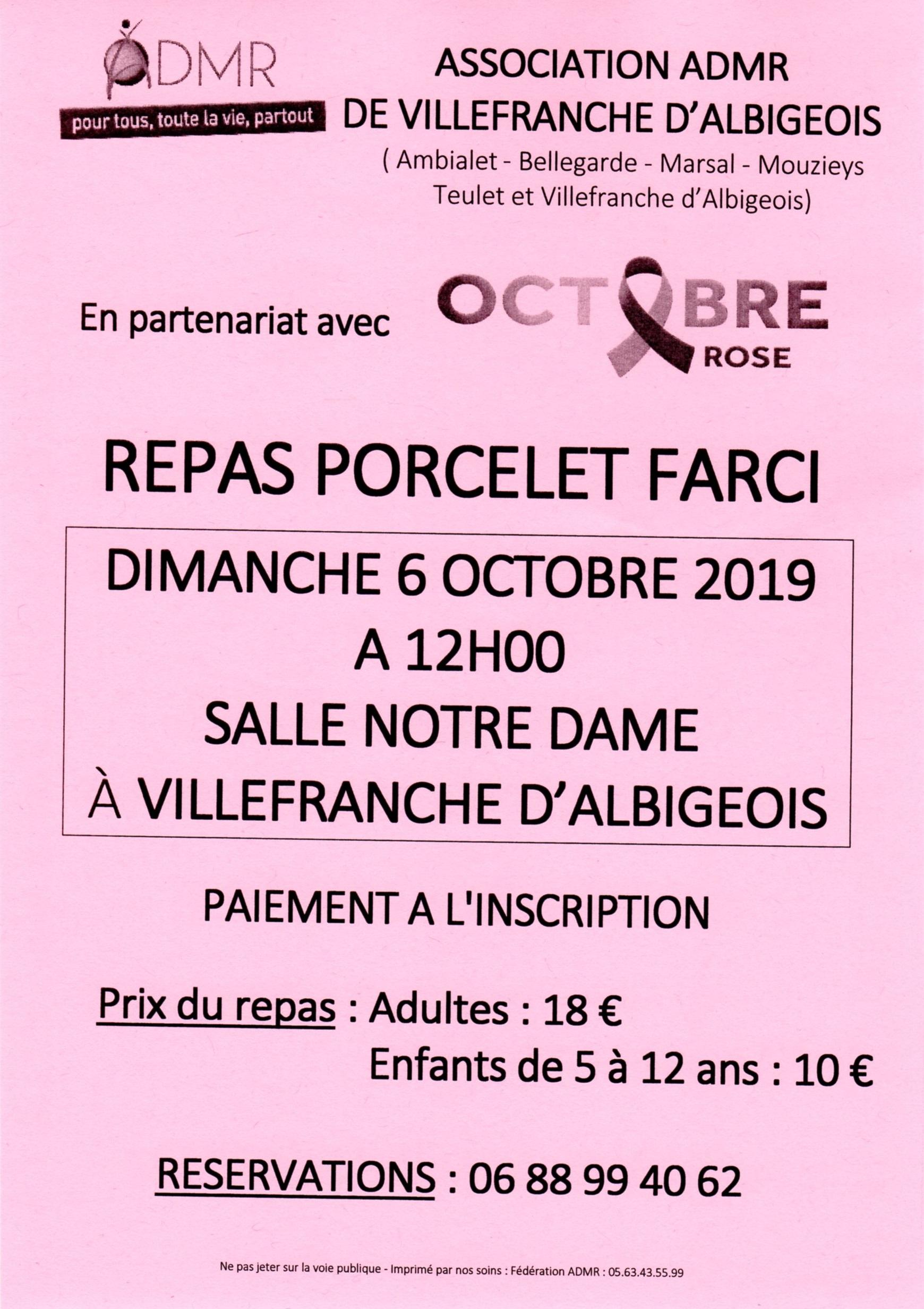 L'ADMR partenaire d'Octobre rose