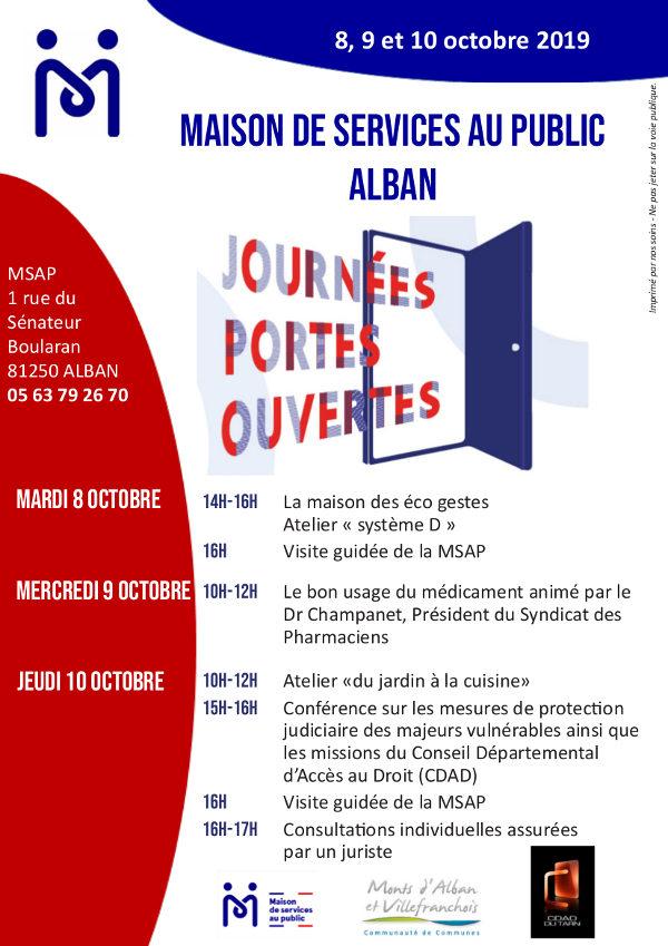 Portes Ouvertes à la MSAP d'Alban
