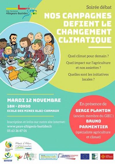 Soirée débat sur le changement climatique le 12 novembre 2019