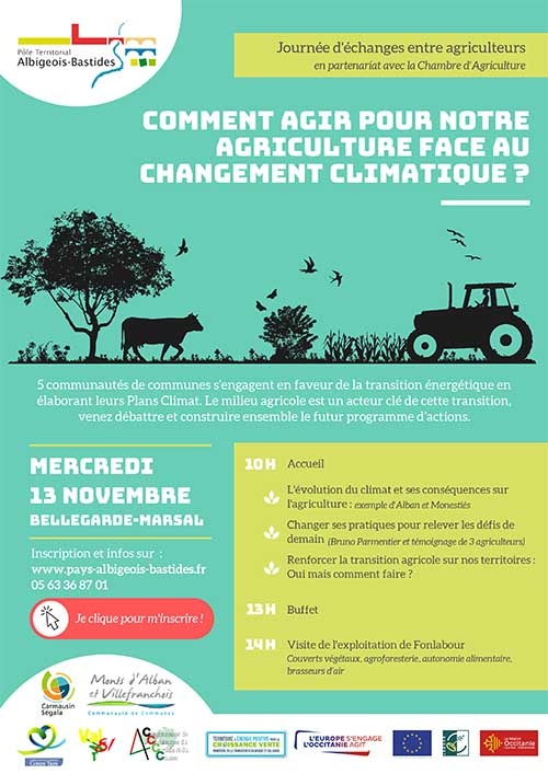 Journée d'échanges entre agriculteurs : agir face au changement climatique