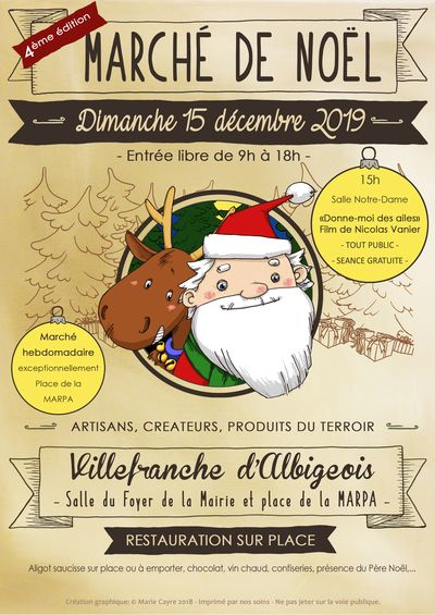 Marché de noël 2019 à Villefranche d'Albigeois