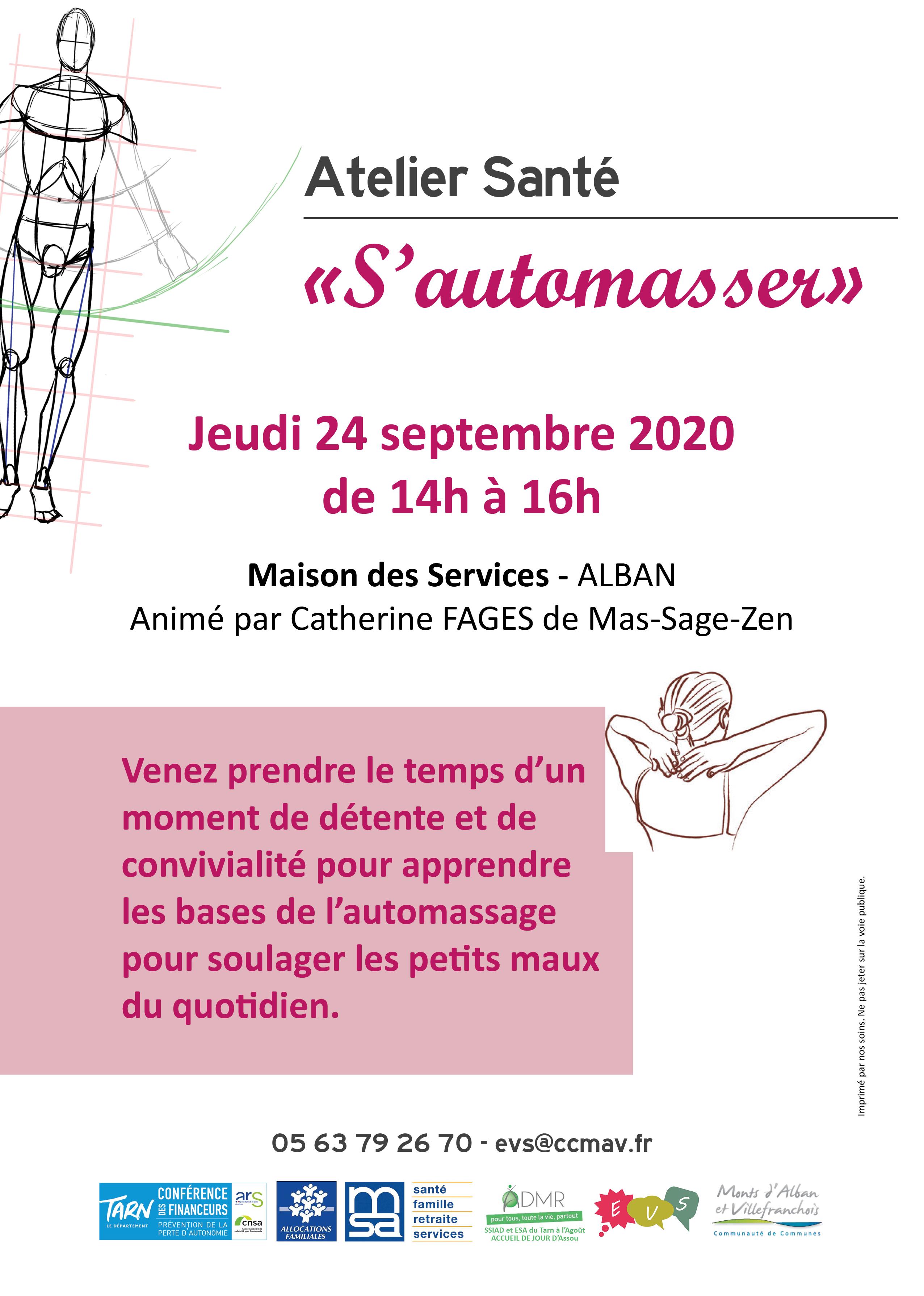 """Atelier santé : """"S'automasser"""""""