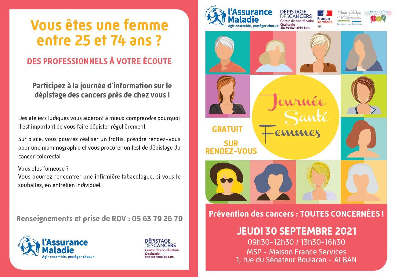 Journée Santé Femmes à la Maison des Services le 30 septembre