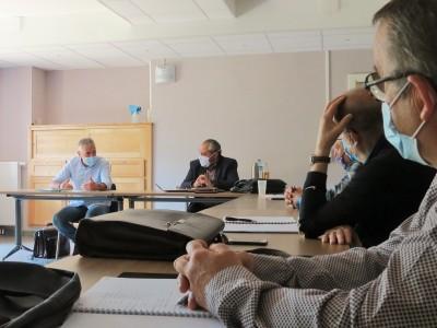 Rencontre d'élus de la CCMAV avec Jean-Jacques MARTY, président de l'association des maires ruraux de l'Aude et vice-président de l'AMRF