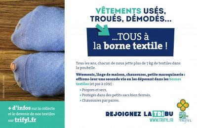 Textiles usés, troués, démodés... tous ont droit à une seconde vie !